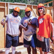 Athletes build Habitat for Humanity house