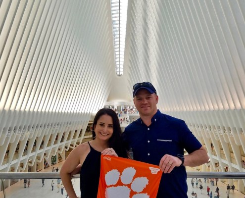 New York: Henry McGill III '09 and Amanda Trujillo McGill '08 visited the World Trade Center Transportation Hub Oculus in New York City.