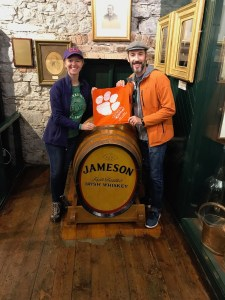 Ireland: Meredith Swain M '15 and Adam M '11, Ph.D. '15 Millsap brought their Tiger Rag on a trip to Ireland.