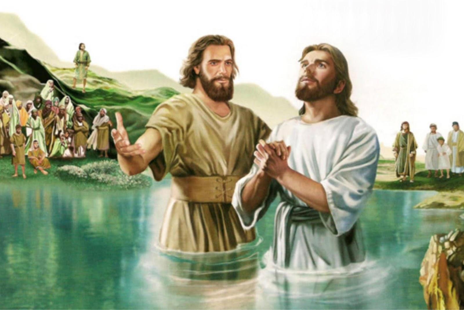 Resultado de imagem para imagem do batismo de jesus - canção nova
