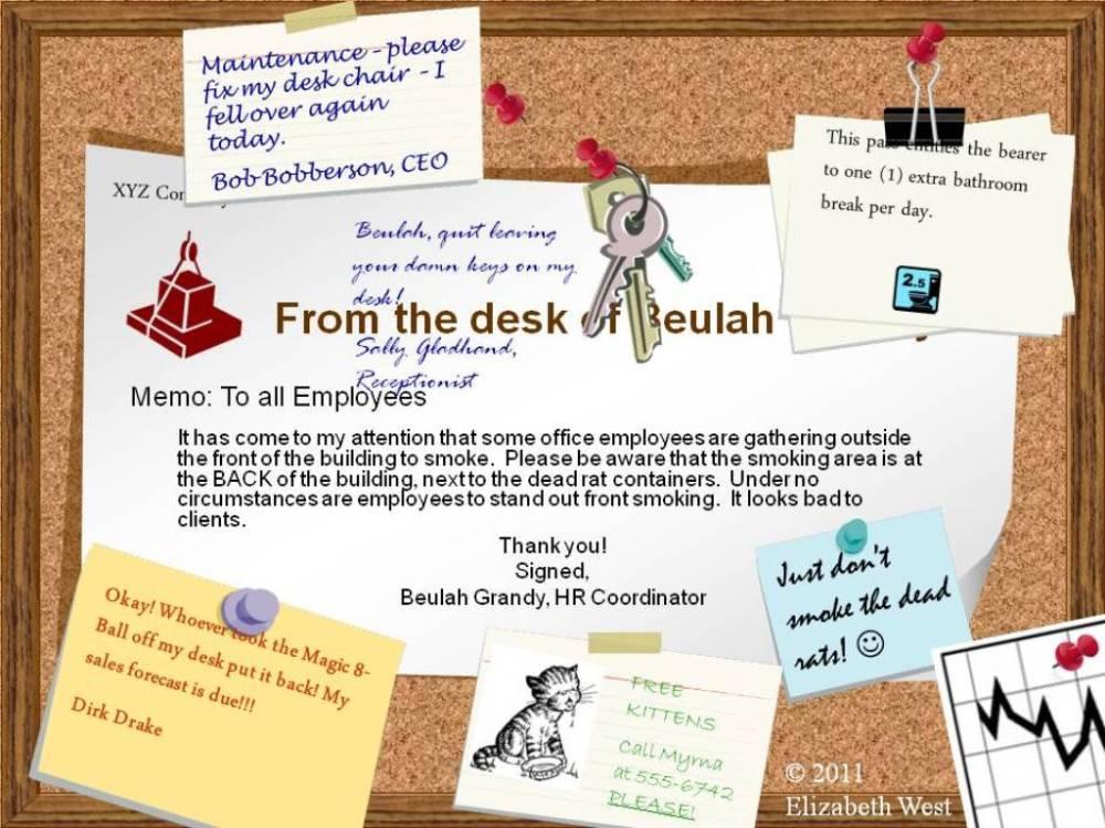 XYZ Company Bulletin Board!