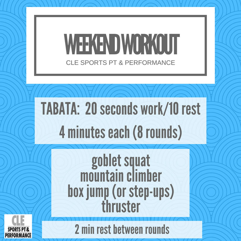 Weekend Workout 2.23.18