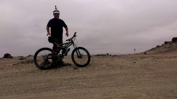 Sobre las rocas del desierto