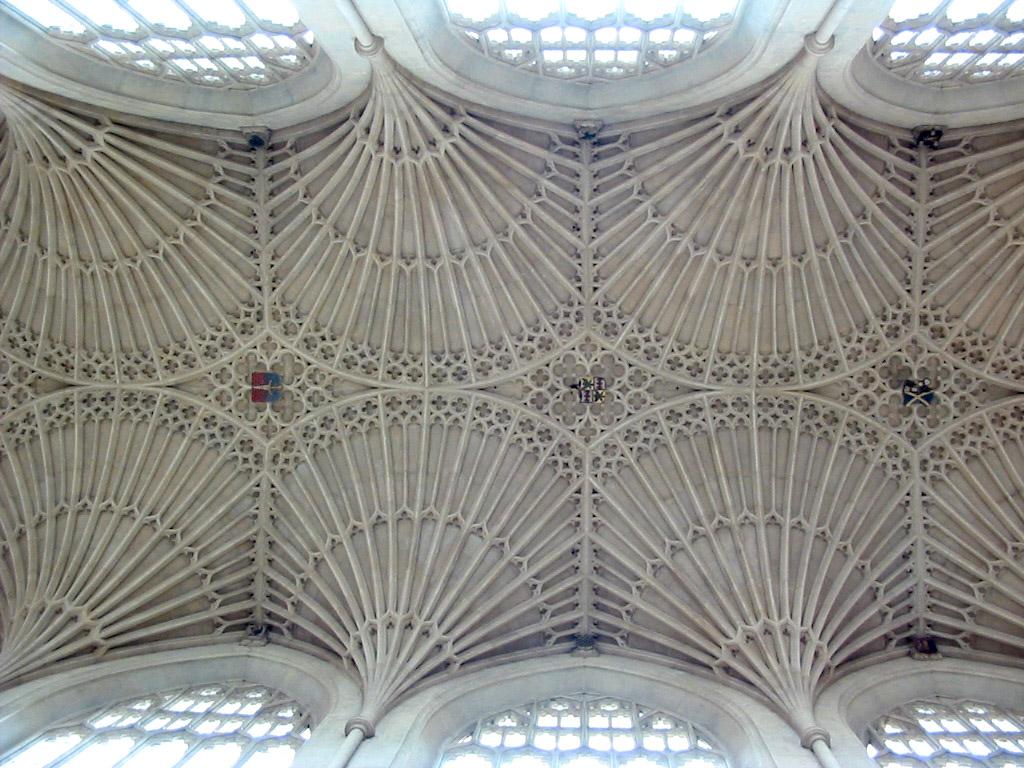 Fan vaulting in Bath Abbey