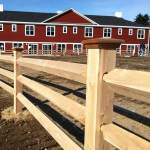 Northern White Cedar Post & Beam Fence