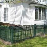 Green Steel Fence