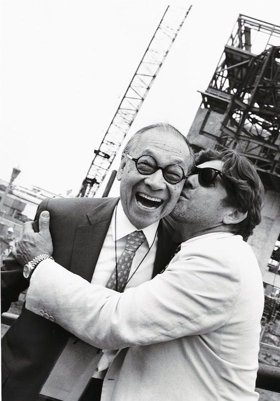 I. M. Pei and Jann Wenner at Rock and Roll Hall of Fame Groundbreaking, 1993