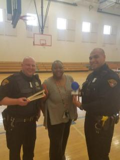 Officers Melendez and Greczanik spent some time at AJ Rickoff STEM School at an after school event promoting science, technology, engineering, and math. The officers worked with the kids at making ballon powered paper cars and rubber band powered wooden cars.