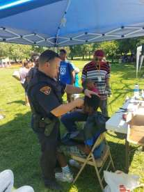 Backpack Outreach Event at Artha Woods Park