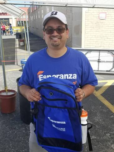Esperanza backpack donations for students