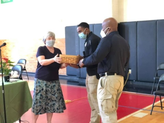 Thanks to the Cleveland Montessori School for donating protective face masks to the 3rd District Officers, and congratulations on receiving a school grant from the Ohio Catholic Credit Union!