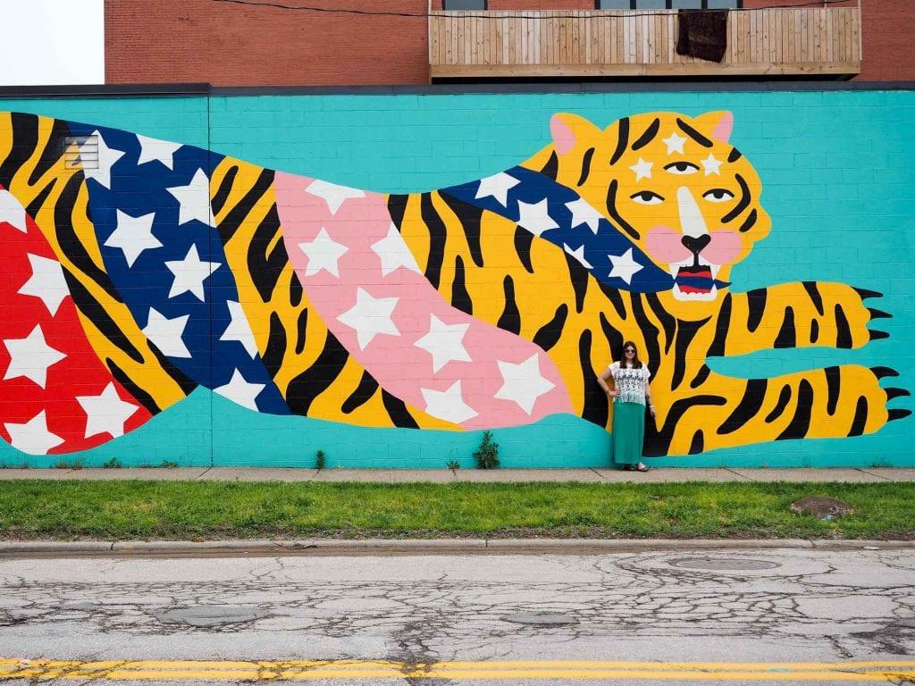 Mural in Hingetown, Cleveland