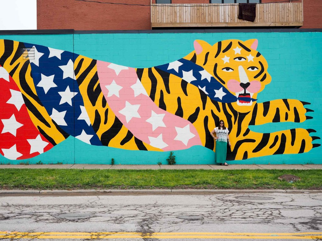 Mural in Hingetown, Cleveland