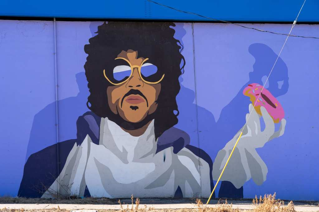 Prince mural in Cleveland