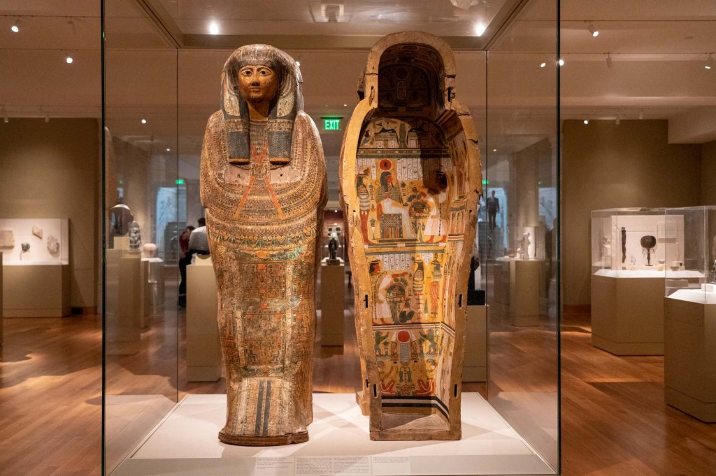 Egyptian gallery at Cleveland Museum of Art