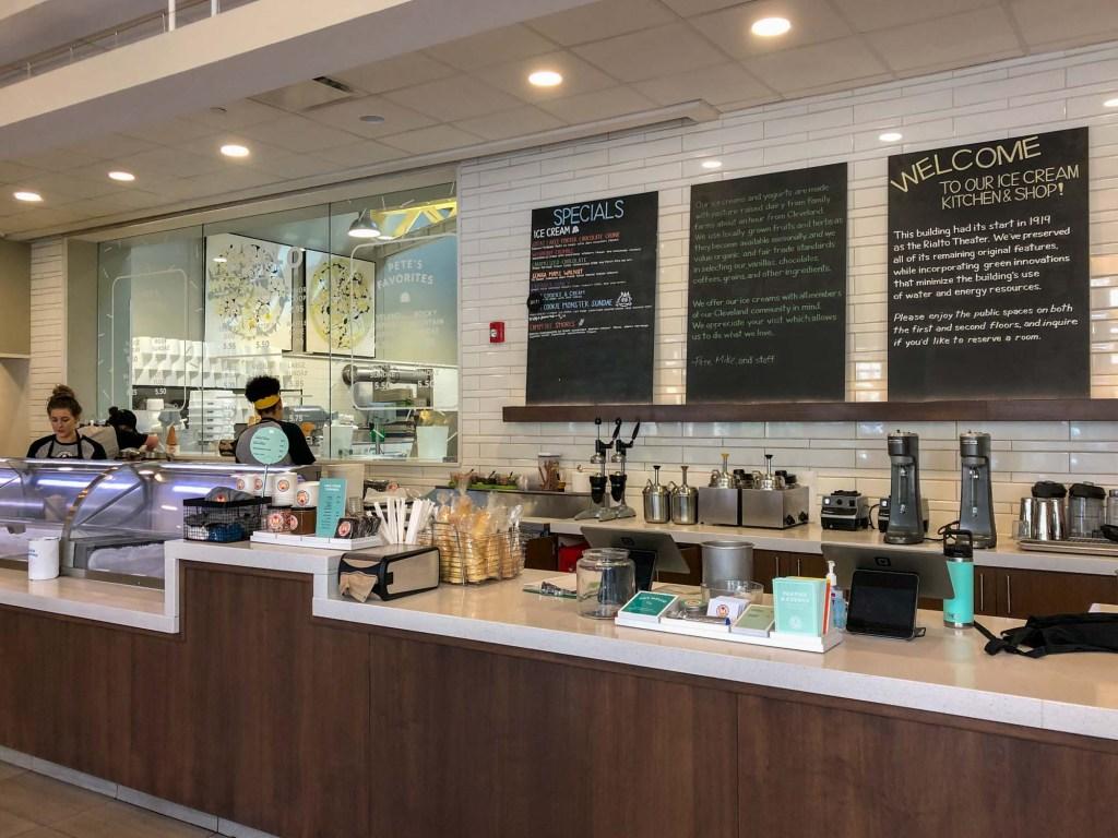 Inside Mitchell's Homemade Ice Cream in Ohio City