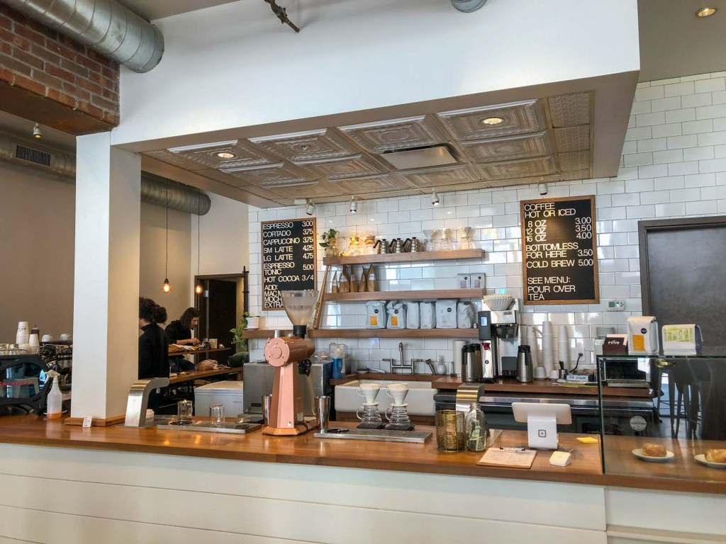 Inside Pour Cleveland coffee shop