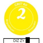 Crit'Air Plakette gelb