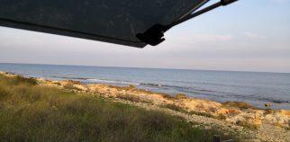 Aussicht aufs Meer bei Santa Pola