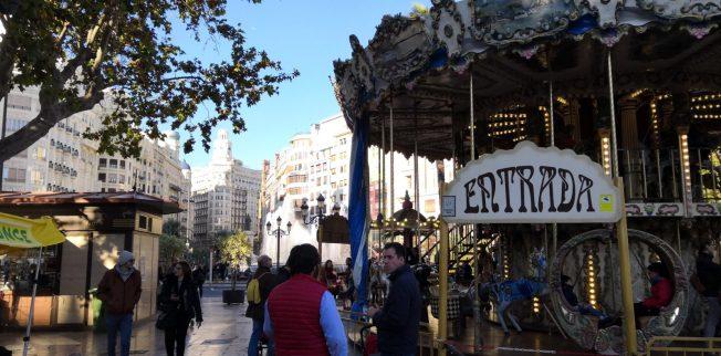 Straßenszene Valencia
