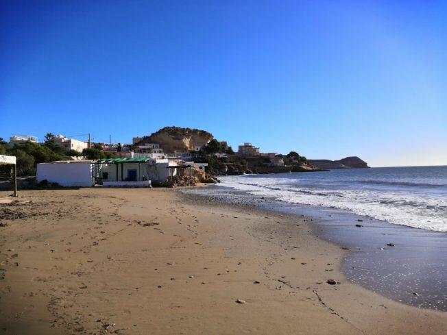 Strand von San Juán de los Terreros