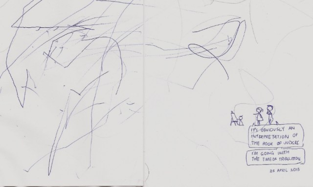 Eden's First Drawing