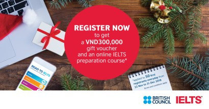 Year-end special offers for British Council IELTS test takers!