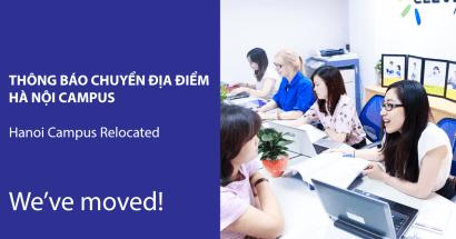 Thông báo chuyển địa điểm Hà Nội Campus từ tháng 5/2019