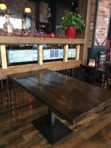 rustic six seater restaurant table