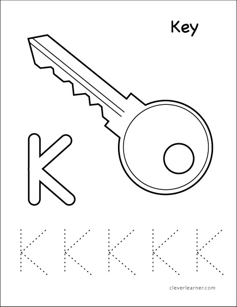 Letter K Writing And Coloring Sheet