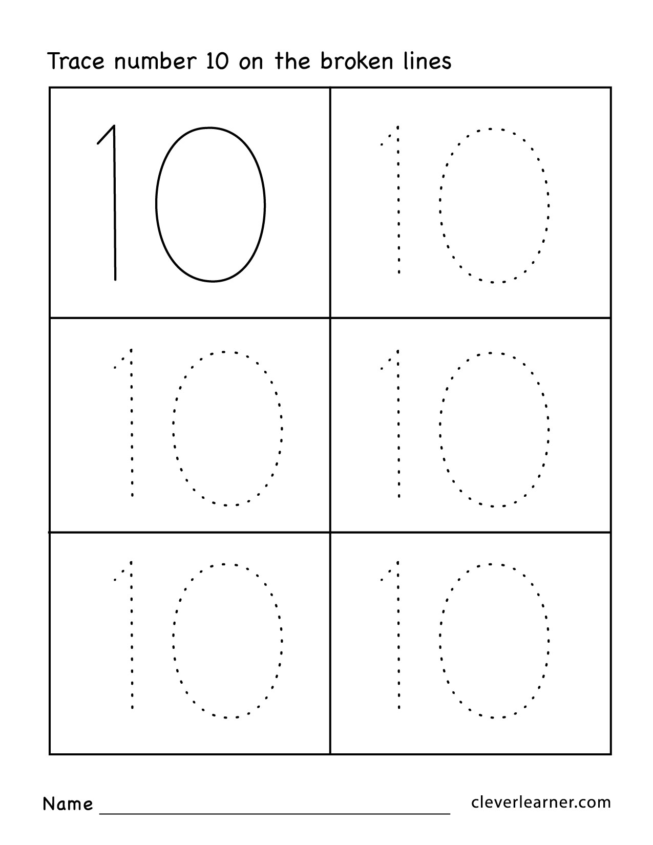 Bilingual Number Worksheet For Preschoolers