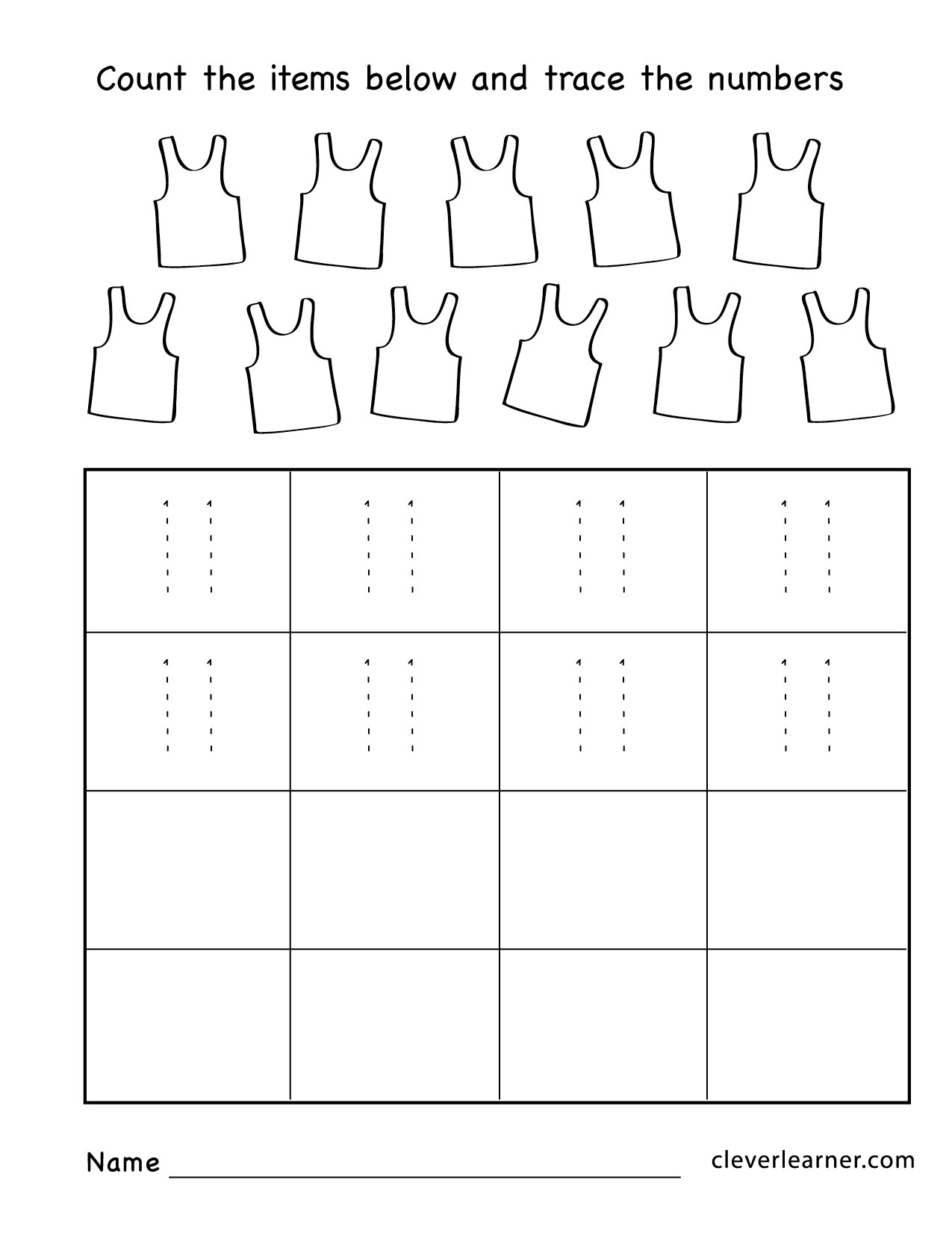 Writing Printable Kindergarten Worksheet Number 11
