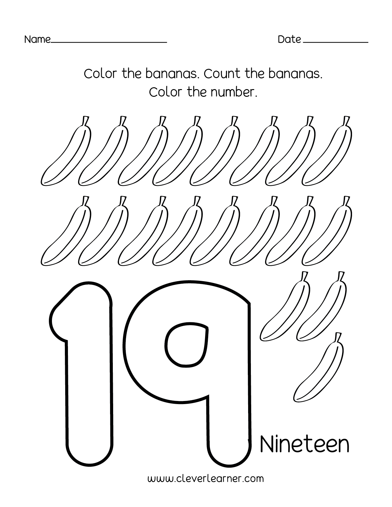 Number 16 Worksheet For Toddlers