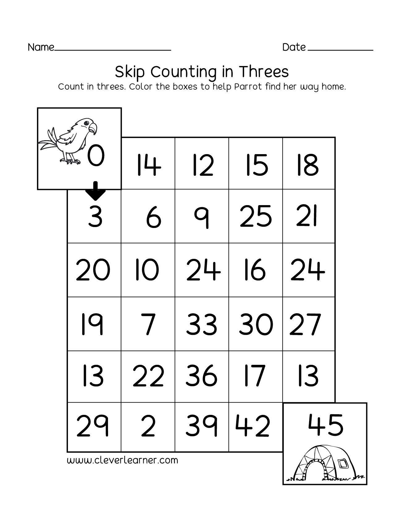 Skipping Numbers Activities And Worksheets For