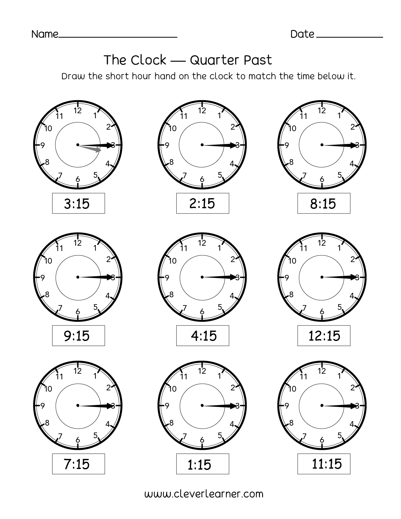 Time Worksheets Grade 3