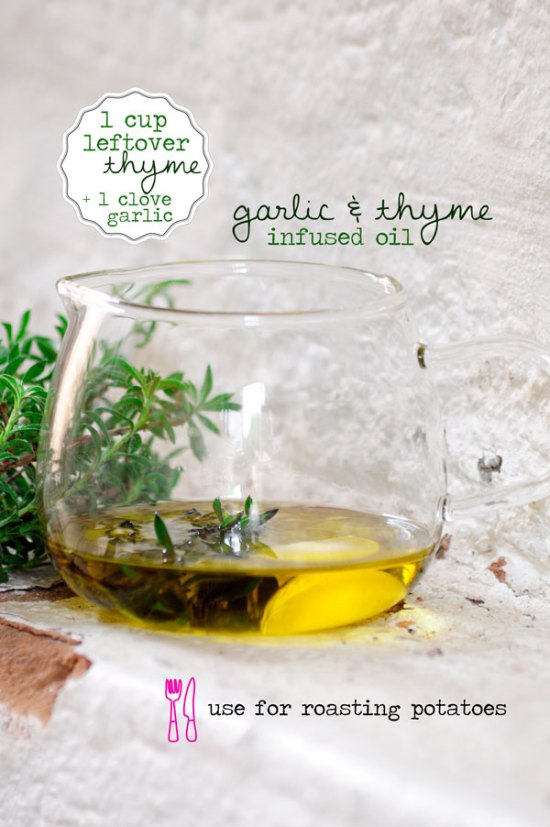 Thyme-&-Garlic-Infused-Oil