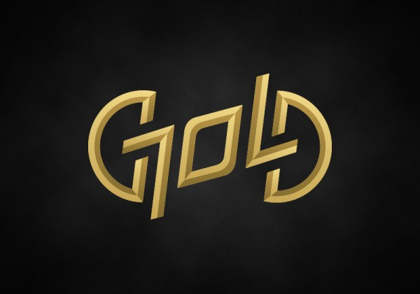 """Gold"" ambigram logo by David Goldklang"