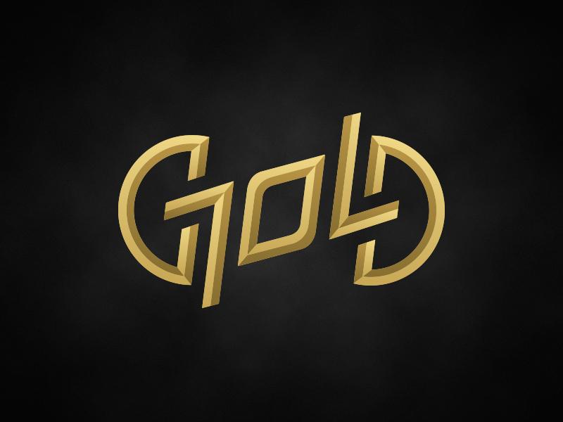 """""""Gold"""" ambigram logo by David Goldklang"""