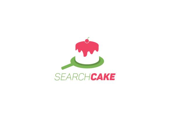 Search cake logo by Chakib Chennani