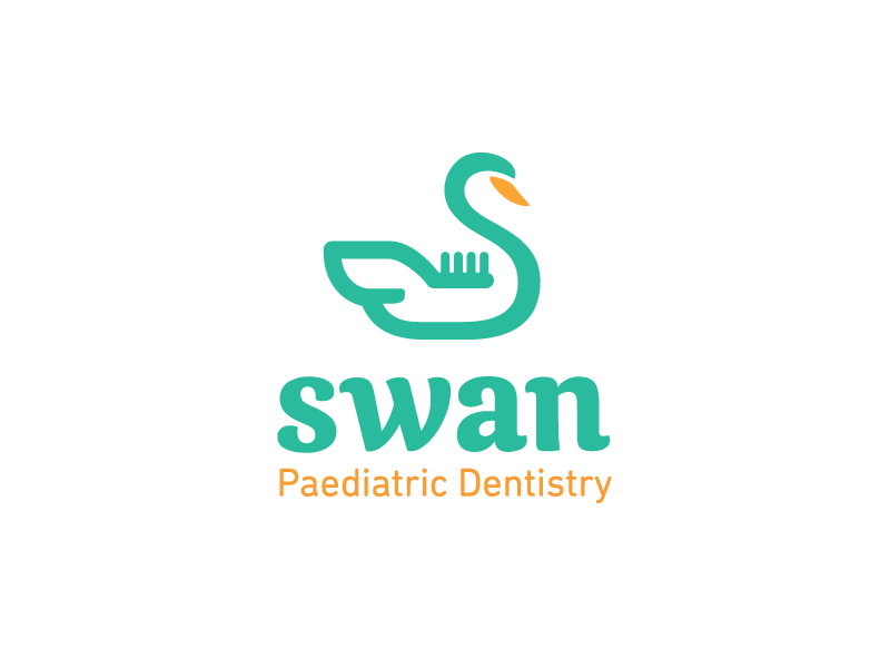 Swan + Toothbrush - CleverLogos