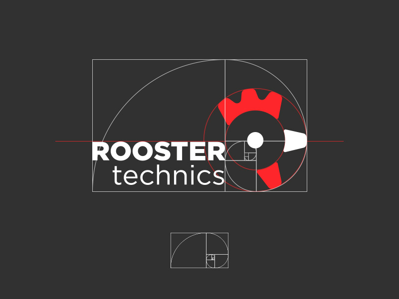 Rooster Logo Golden Ratio by Sergey Yark