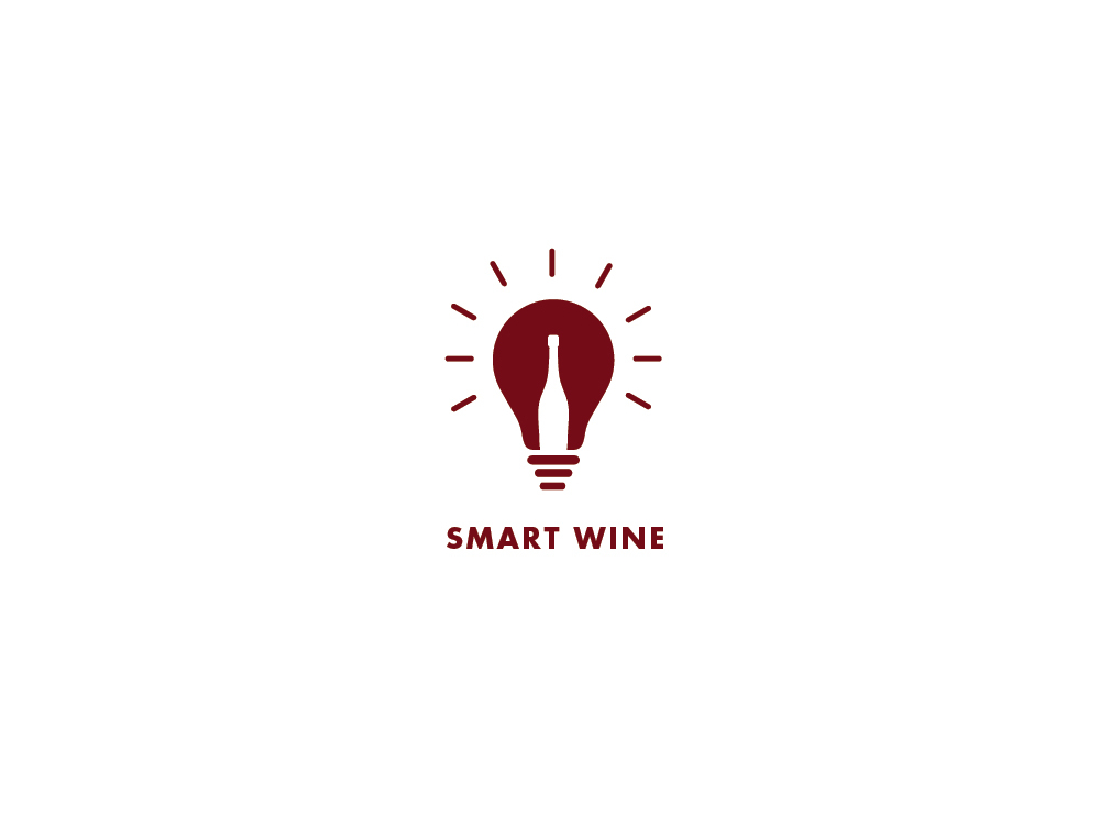Wine bottle in lightbulb by Viki Delic