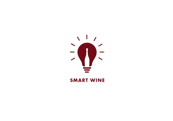 Wine bottle in lightbulb by Viki Delic