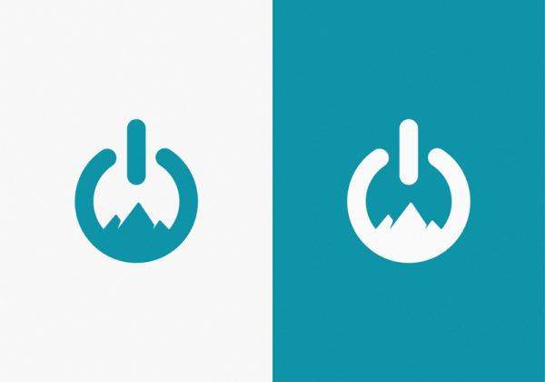 Power + Mountains / logo idea by Yuri Kartashev