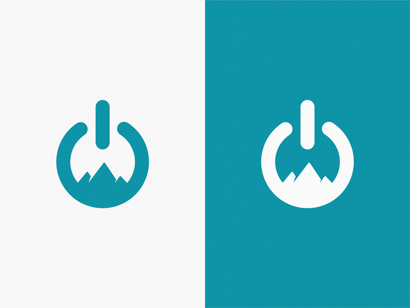 Power + Mountains / logo idea by Yuri Kartashev