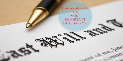 Do you have a will? Here's why you should. #personalfinance via @CleverlyChangin