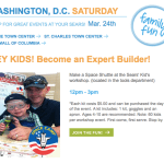 Sears Family Fun Builders Class for kids 4-10: Saturday, March 24th from 12-3