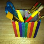 Fun Functional Container Craft with Popsicle Sticks
