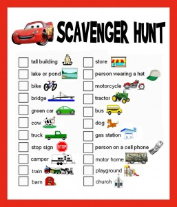 Fun Family Activity - a scavenger hunt