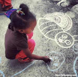 Fun Family Activity - chalk games